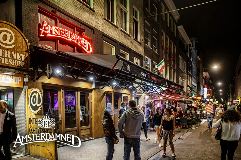 Amsterdamned Cafe Coffeeshop Amsterdam - Weed Recommend
