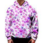 Pink Cannabis Leaf Hoodie - Weed Recommend