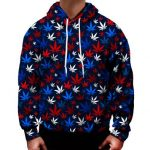 Red white Blue cannabis leaf pattern - Weed Recommend