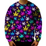rainbow cannabis leaf sweater - Weed Recommend