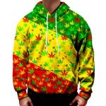 ratsa colours cannabis leaf hoodie - Weed Recommend